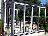 Frame structure of a wall with double sliding door
